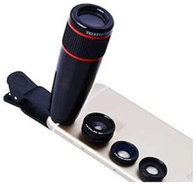 12x Optical Zoom HD Telescope Camera Lens Universal for Mobile Phone ( Assorted Colors )