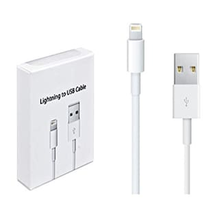 1M 8 Pin Plastic and Metal Lightning USB Charging and Sync Cable for iOS Devices(White)