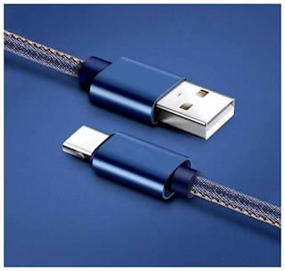 Gadget Wagon GW-TYPE-C-JEANS In-Ear Wired Headphone ( Blue )