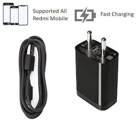 MR R KING AND QUEEN 2 AMP Mobile Charger (Black)