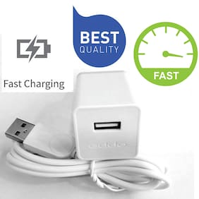 Oppo Mobile Phone Charger | 2 AMP Fast Charge | Made For All Oppo Phone | Charger For Oppo Mobile Phones | With Cable | White Oppo Charger