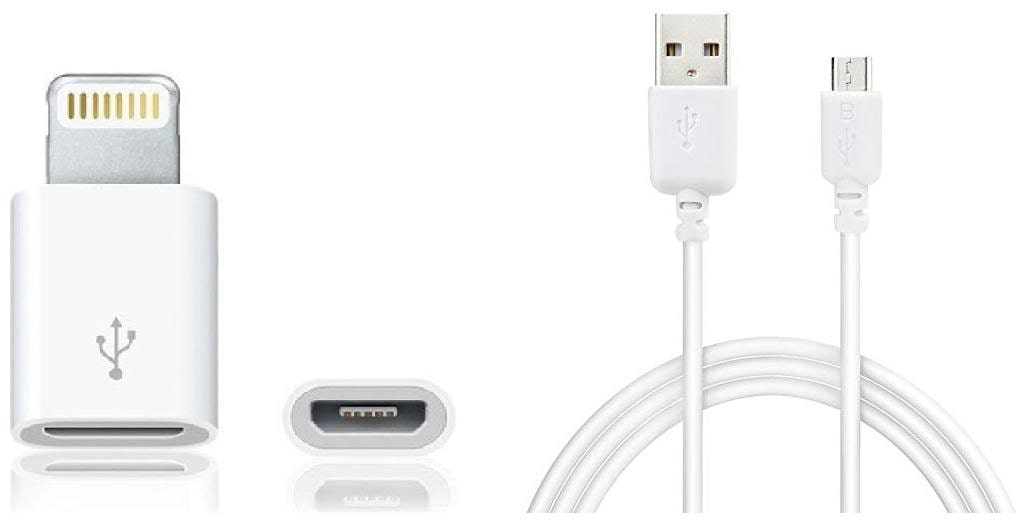 2 in 1 COMBO - Micro USB to Lighting 8 pin Adapter...