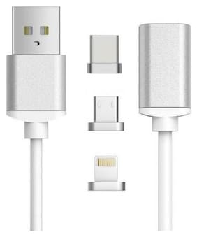 2 in 1 - Metal Magnetic Charger Data Cable Metal Adapter for Android & Iphone