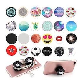 2 pcs. Pop socket for Mobile Phones / Tablet | Premium Quality popsocket / holder  for boys / girls | iPhone + Android | popsockets ( Assorted Colors and Designs )