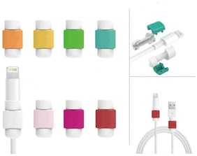 20 Pcs. Iphone Cable Protector Saver For Iphone Ipad Lightning Usb Data Charging Cable (Assorted Colors )