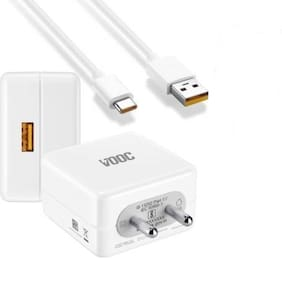Pokryt 4 A Fast Charging VOOC Charger - 1 USB Port With Type-C Cable