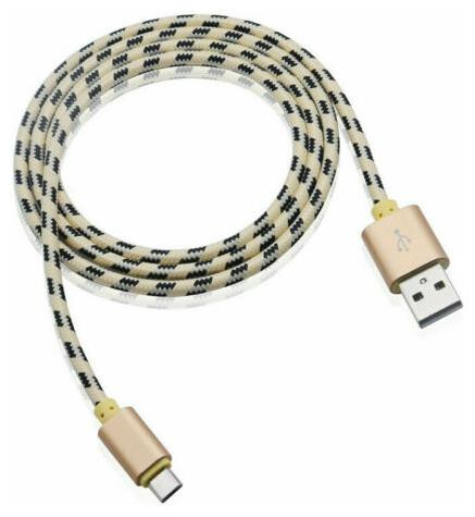 2X 6.6FT Nylon Braided USB 3.1 Type C Data Sync Power Charger Charging Cable US