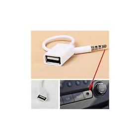 3.5mm AUX Male To USB Female Audio Converter Cable