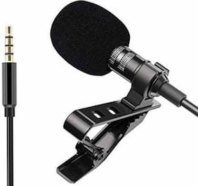 3.5mm Clip Microphone For Youtube | Collar Mike for Voice Recording | Lapel Mic Mobile, PC, Laptop, Android Smartphones, DSLR Camera Microphone Microphone  (Black) Microphone (pack of 1)