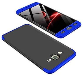 3-in-1 360 Degree Front & Back Protection Ultra Slim Phone Back Case Cover for Samsung Galaxy J7 Nxt - Black & Blue