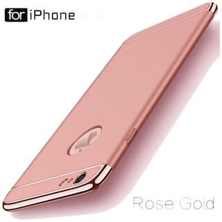 3-in-1 Dual Layer Thin Back Cover Case for Apple Iphone 6/6S (Rose Gold)