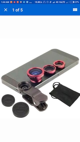 3 In 1 Universal Clip Mobile Phone Lens Fish Eye+ Macro + Wide Angle camera lens