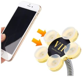 360°Rotatable Mobile Phone Multi-Function Double-Sided Suction Cup Mobile Phone Stand,  (Pack of 1) MultiColor
