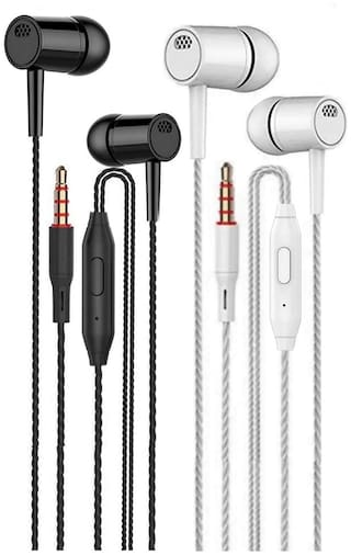3SMART 2001-(pack_of_2) In-Ear Wired Headphone ( Assorted )