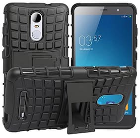 5PLUS Defender Tough Hybrid Armour Shockproof Hard PC + TPU with Kick Stand Rugged Back Case Cover for LENOVO K5 NOTE