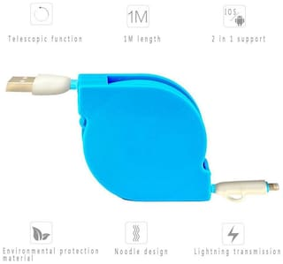 2 IN 1 FOLDABLE DATA CABLE Compatible with Apple & Android Micro Pin RME01