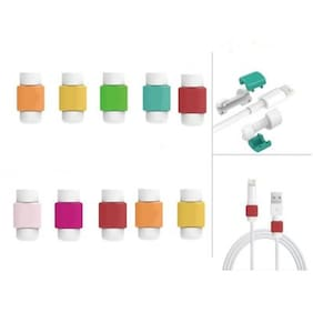 6 Pcs USB Charger Cable Cord Protector Saver Cover (Colours May Vary)