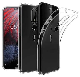 91 AVILOOK CASES Silicone Back Cover For Nokia 7.1 ( Transparent )