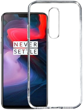 91 AVILOOK CASES Silicone Back Cover For OnePlus 6T ( Transparent )