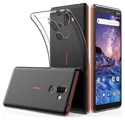 91 AVILOOK CASES Nokia Transparent Back Cover for Mobile Nokia 7.1 Plus Transparent Back Cover   High Quality  Transparent  Full Protection , Grip Cas