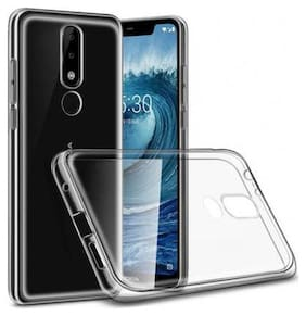 """91 AVILOOK CASES Nokia Transparent Back Cover for Mobile Nokia 5.1 Plus Transparent Back Cover ((High Quality """"Transparent"""" Full Protection), Grip Case, Silicon)"""