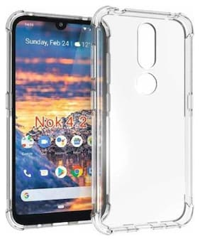 91 AVILOOK CASES Silicone Back Cover For Nokia 4.2 ( Transparent )