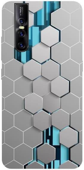 9T9 Online Rubber Designer Back Cover For Vivo V15 Pro ( Multi )