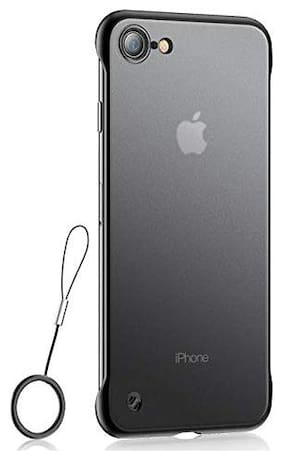 Polycarbonate Back Cover For Apple iPhone 7 ( Black )