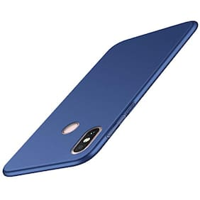 A rtistque Silk Smooth Finish Full Coverage Slim Back Case Cover For Xiaomi Redmi Note 6 pro  - Blue