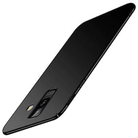 A rtistque Silk Smooth Finish Full Coverage Slim Back Case Cover For Samsung Galaxy J8  - Black