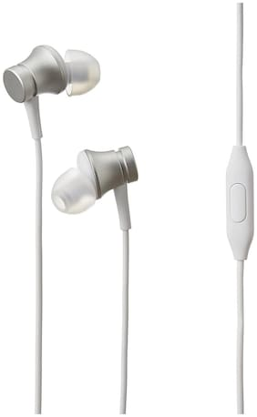 AAR BEE WORLD In-Ear Wired Headphone ( Silver & White )