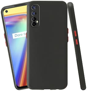 Realme 7 Silicone Back Cover By ACCESORIES LEGACY ( Black )