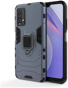 Accesories Legacy Poco M3/ Xiaomi Redmi 9 Power Tough Armor Bumper Back Case Cover | Excellent 360 Degree Protection case Cover For Poco M3/ Redmi 9 Power (Carbon Blue)