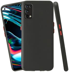 ACCESORIES LEGACY Silicone Back Cover For Realme 7 Pro ( Black )