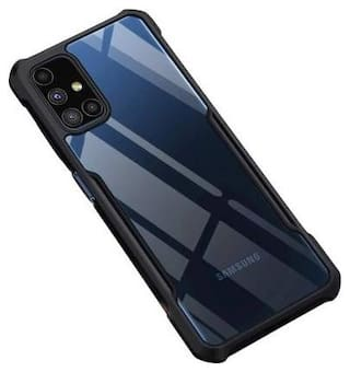 Samsung Galaxy M51 Polycarbonate Back Cover By ACCESORIES LEGACY ( Black )