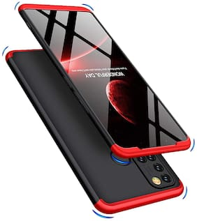 ACCESORIES LEGACY Polycarbonate Back Cover For Realme 7i ( Red )