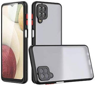 Samsung Galaxy M12 Polycarbonate Back Cover By ACCESORIES LEGACY ( Black )