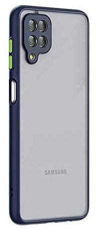 Accesories Legacy Samsung Galaxy A12,Samsung M12 Smoke Translucent Protective Shock Proof Smooth Rubberized Ant-Slip Matte Hard Back Case Cover for Samsung Galaxy M12,Samsung A12 (Blue)
