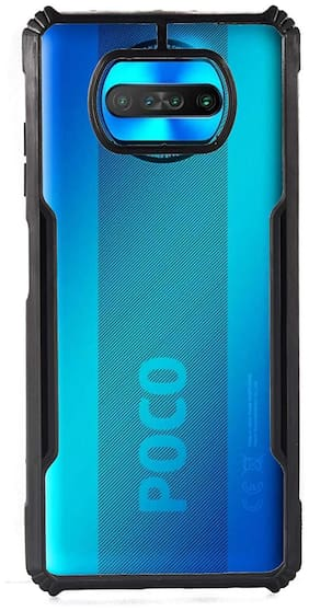 ACCESORIES LEGACY Polycarbonate Back Cover For Poco X3 ( Black )