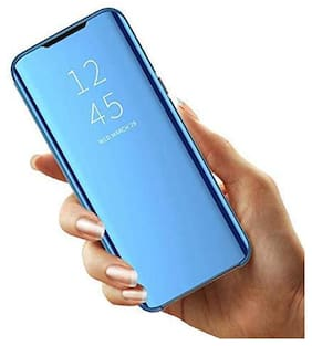 ACCESORIES LEGACY Glass Flip Cover For Redmi 9 Power ( Blue )