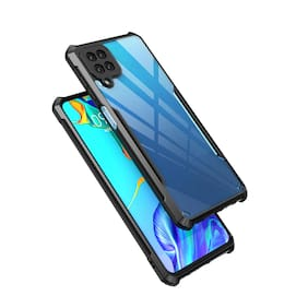 Accesories Legacy Samsung Galaxy F62 Polycarbonate Shockproof Crystal Clear 360 Degree Protection Protective Design Bumper Transparent Back Cover Case for Samsung Galaxy F62,Samsung F62 (Blue)