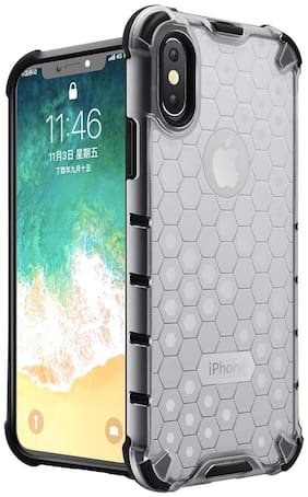 Apple iPhone X Polycarbonate Back Cover By Accessories Kart ( White )