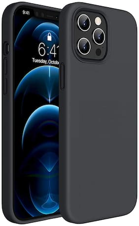 Apple iPhone 12 Polycarbonate Back Cover By Accessories Kart ( Black )