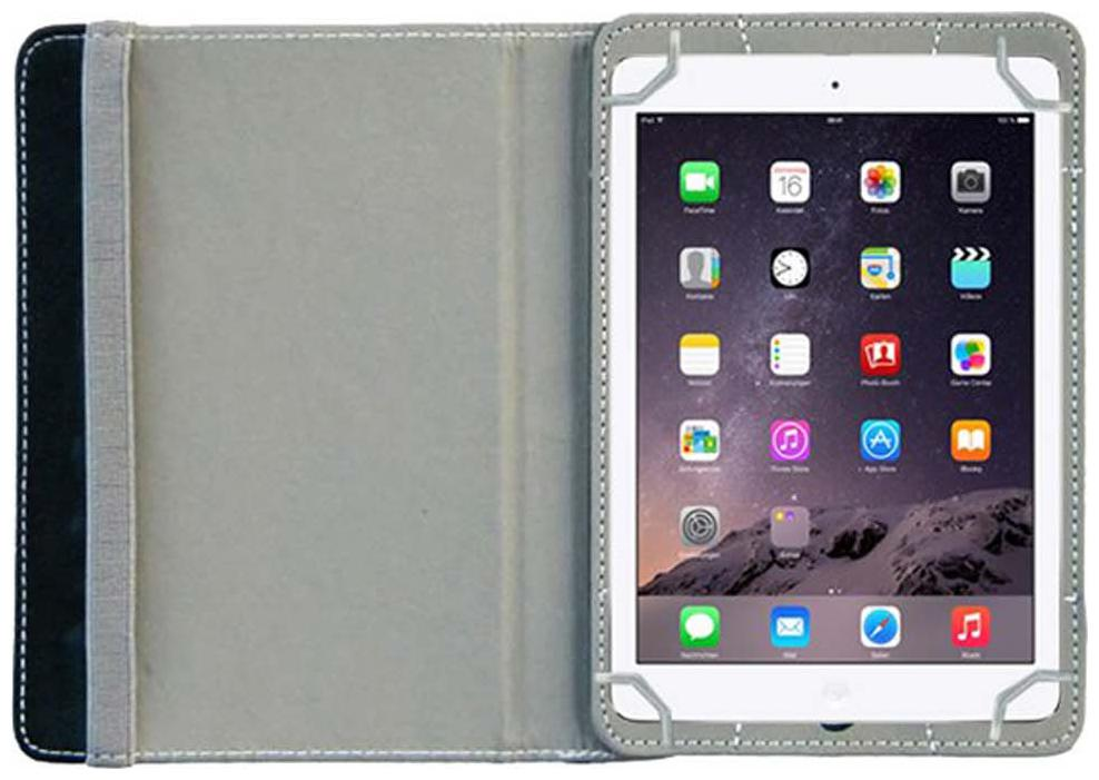 ACM Book Cover For Apple iPad Air 1  Purple   Grey  by Accessories Masters