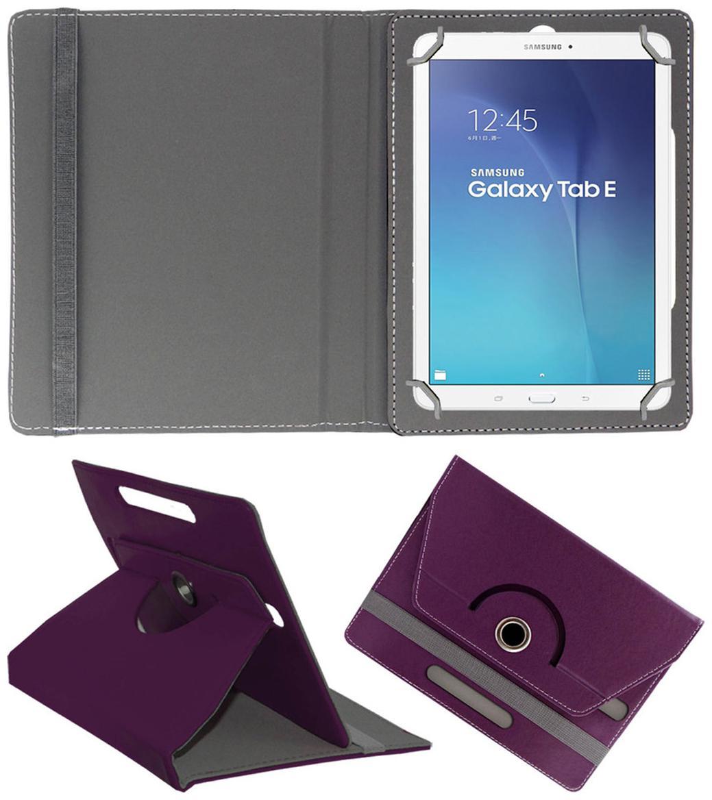 ACM Book Cover For Samsung Galaxy Tab E 9.6  Purple