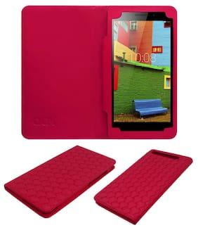 Acm Designer Executive Case For Lenovo Phab Plus Tablet Flip Cover Pink