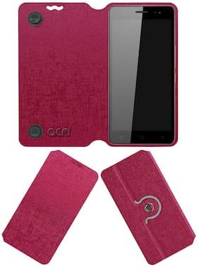 Acm Designer Rotating Flip Case for Infinix Hot 8 Mobile Cover Stand Pink