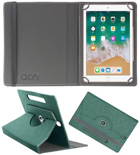 Acm Designer Rotating Leather Flip Case for Apple Ipad 6th Gen 9.7 Inch Cover Stand Turquoise