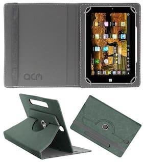 Acm Designer Rotating Leather Flip Case for Domo Slate N8 Se Cover Stand Grey