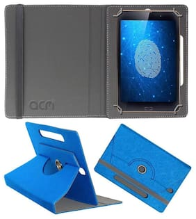 Acm Designer Rotating Leather Flip Case for Iball Bio-Mate Tablet Cover Stand